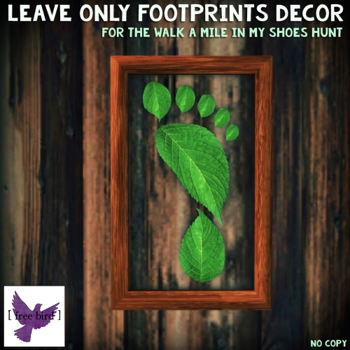 [ free bird ] Leave Only Footprints Framed Decor.jpg