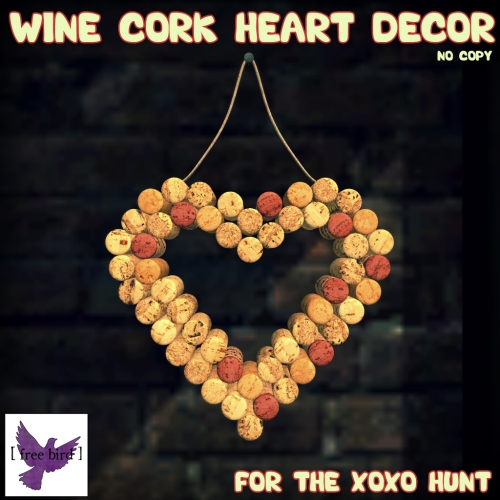 [ free bird ] Wine Cork Heart Decor - XOXO Hunt Prize.jpg