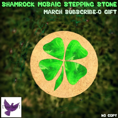 [ free bird ] Shamrock Mosaic Stepping Stone - March Susbcribe-o Gift.jpg