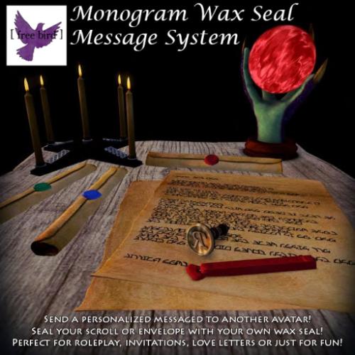 [ free bird ] Monogram Wax Seal Message System