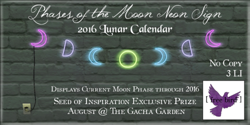 [ free bird ] Phases of the Moon Neon Sign Exclusive