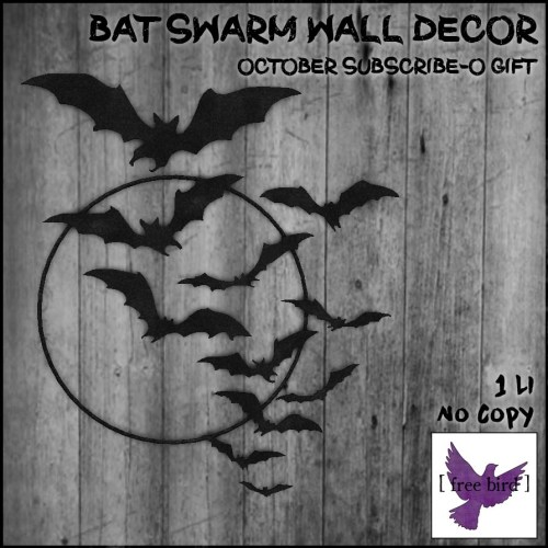 [ free bird ] Bat Swarm Wall Decor Subscribe-O Gift.jpg