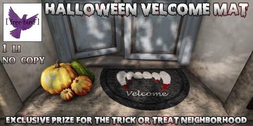 [ free bird ] Halloween Velcome Mat Ad.jpg