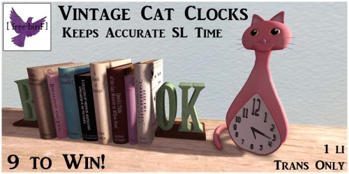 [ free bird ] Vintage Cat Clocks Ad.jpg