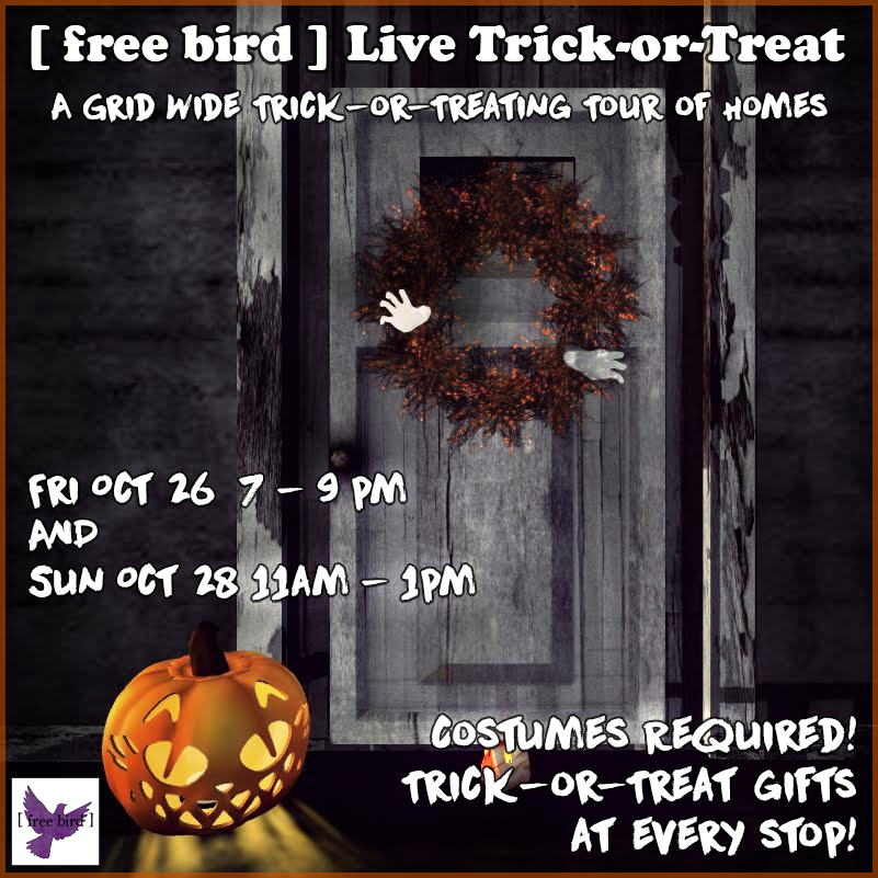 [ free bird ] Live Trick-or-Treat Event Sign Board